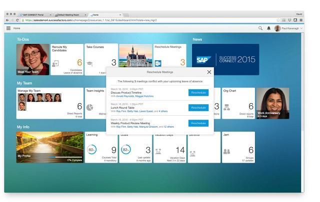 Tích hợp Outlook và SuccessFactors.