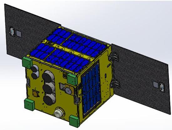 Mô hình vệ tinh MicroDragon của Việt Nam (Nguồn ảnh: VNSC)