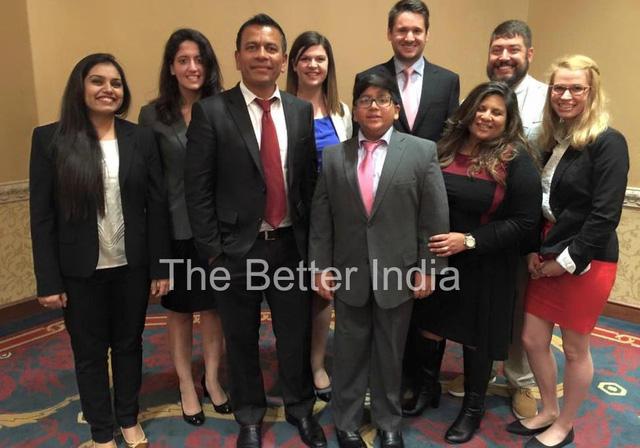 Ishaan Patel cùng các sinh viên trường Đại học Syracuse, Mỹ