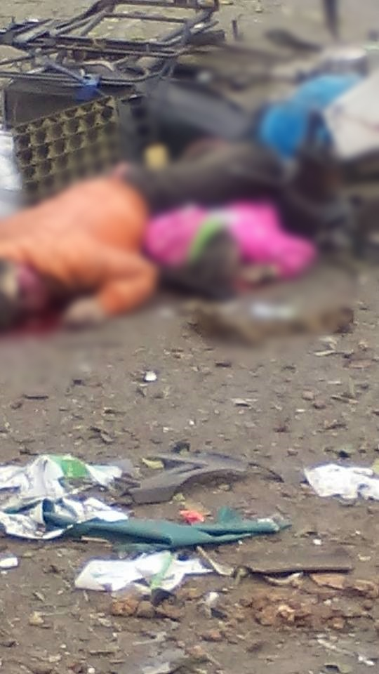 Vụ nổ khiến cho nhiều nạn nhân tử vong tại chỗ - (Ảnh: Facebook Hoàng Huân)