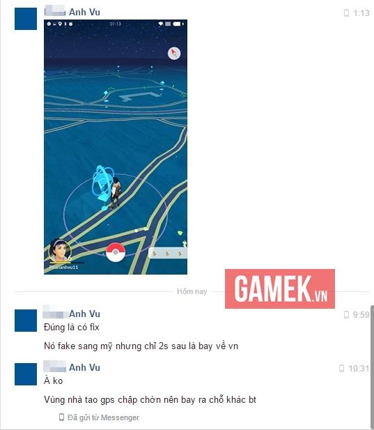 Một game thủ hack GPS chơi Pokemon Go khẳng định vẫn đang chơi được game bình thường