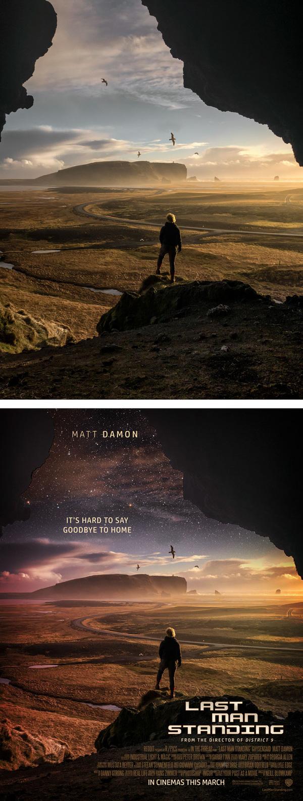 7. Bức ảnh check in sống ảo được tái chế xuất sắc thành poster bộ phim khoa học giả tưởng rất xuất sắc.