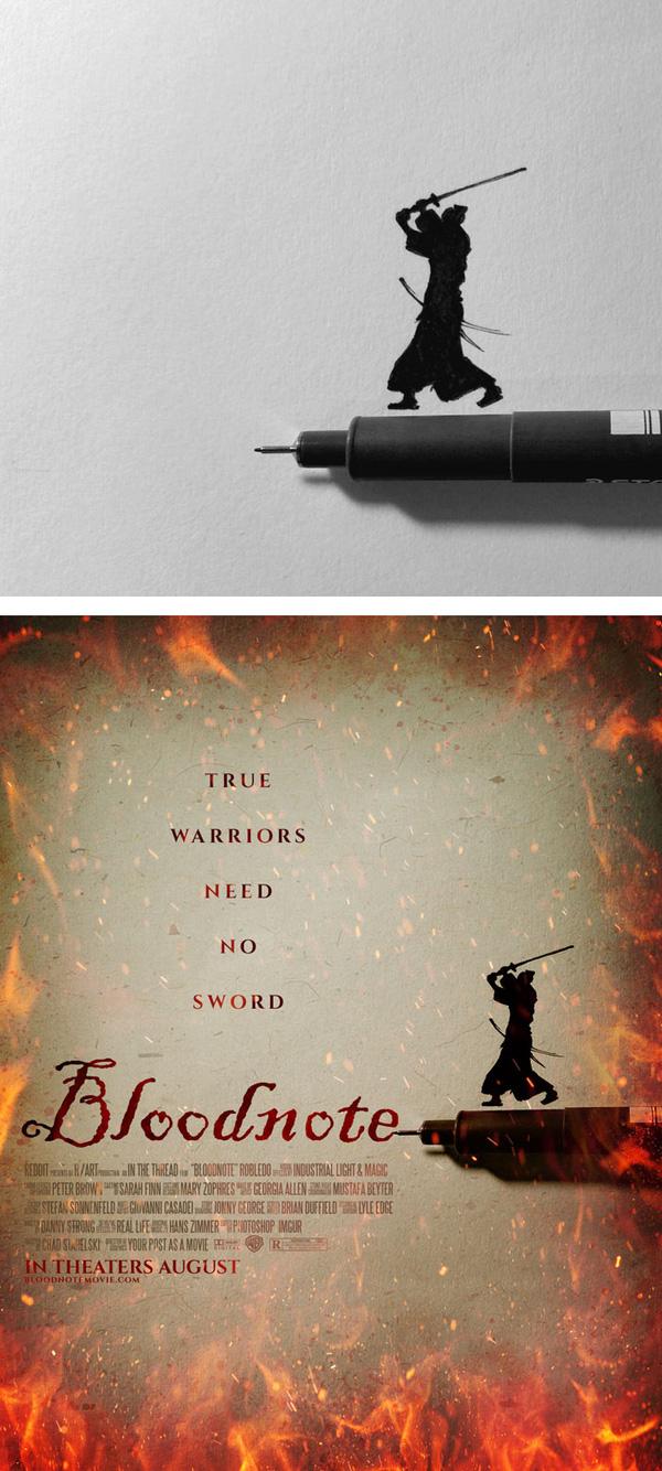 8. Võ sĩ đạo thực thụ không cần dùng đến đao kiếm, chỉ cần ngòi bút là đã có thể chứng tỏ sức mạnh.