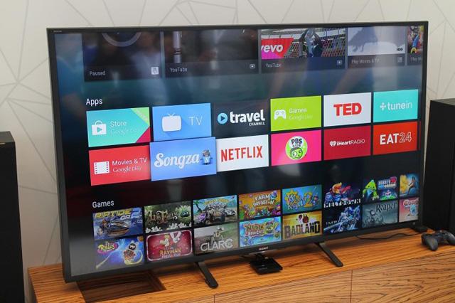 Android TV mới chỉ được các nhà sản xuất TV... thất thế ưa thích.