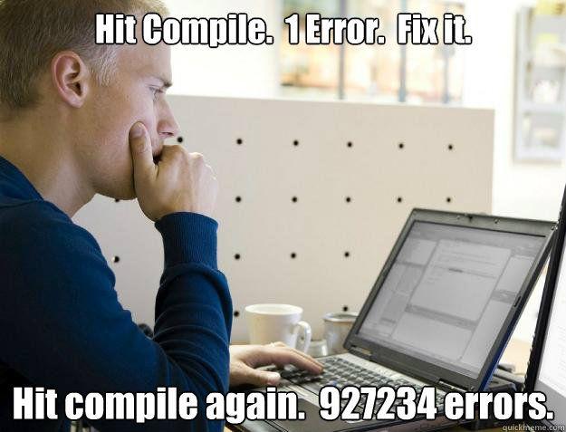 Chuyện thường ngày của các lập trình viên.