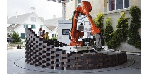 Robot tham gia xây dựng công trình (Ảnh minh họa)