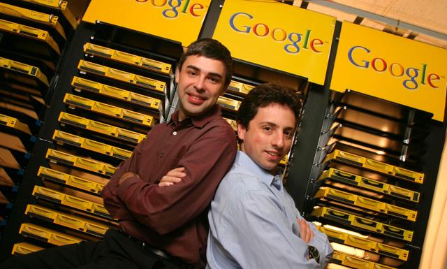 2 nhà sáng lập của Google, Larry Page và Sergey Brin.
