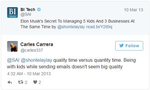 Elon Musk bị chỉ trích khi thừa nhận mình vừa trả lời email vừa chơi với con cái