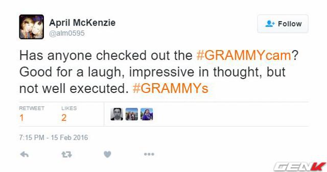 Có ai xem video từ GrammyCam chưa nhỉ? Khá là hài hước đấy, ý tưởng thì ấn tượng nhưng thực hiện vẫn chưa được tốt.