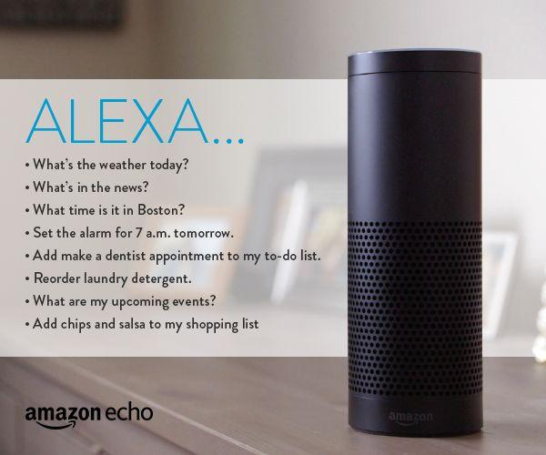 Alexa trên chiếc loa thông minh Echo của Amazon