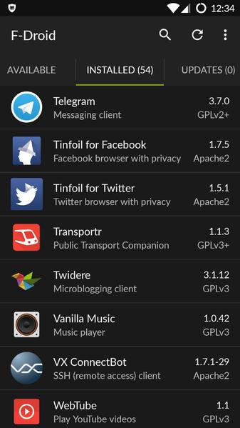 F-Droid, chợ ứng dụng thay thế cho Play Store. 