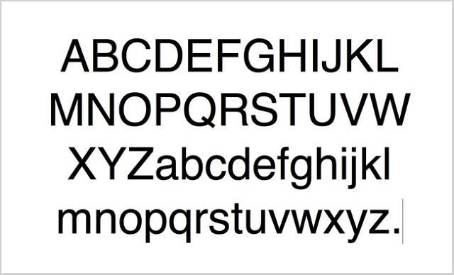 Font Helvetica luôn cho cảm giác các nét chữ khá đồng đều nhau