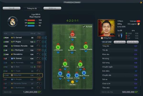 Người chơi đầu tiên trên toàn máy chủ sở hữu Hồng Sơn VNL.