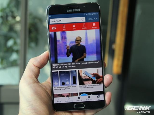 Màn hình Galaxy A9 Pro có kích thước lên tới 6 inch.