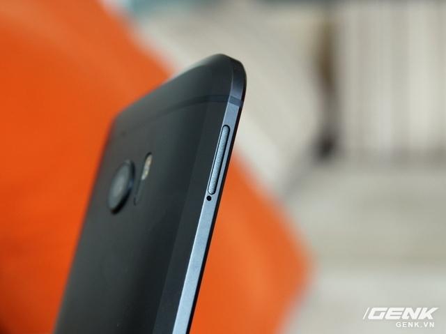 Vẫn khung kim loại nguyên khối, nhưng HTC 10 được vát kim cương nhiều hơn
