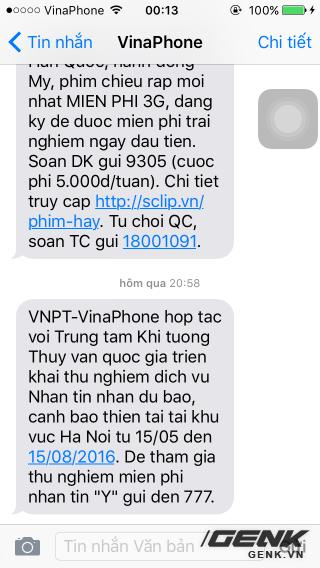 Nhà mạng VinaPhone thử nghiệm dịch vụ Nhận tin nhắn dự báo, cảnh báo thiên tai tại khu vực Hà Nội