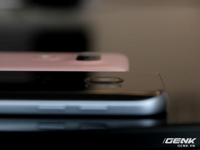 Đi sâu vào cụm camera lồi trên cả LG G5 và Galaxy S7, độ lồi của chúng là như nhau.