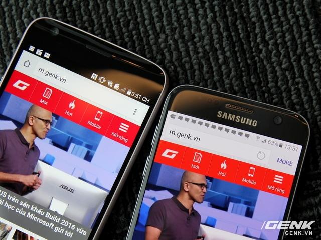 Dù chỉ sử dụng tấm màn LCD, nhưng màn hình G5 rực rỡ chẳng hề thua kém công nghệ AMOLED trên màn hình Galaxy S7. Màu sắc của màn hình G5 cũng chân thực hơn.