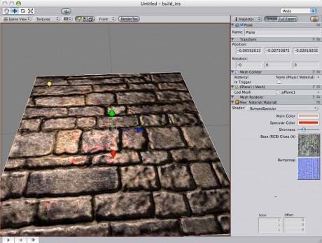 Giao diện Unity3D cơ bản vào năm 2005