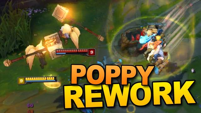 Poppy giờ được sử dụng chiêu thức hợp lí hơn, không còn bóp như trước.