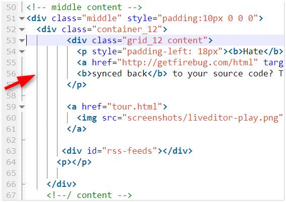 Thụt đầu dòng phân tầng các dòng code