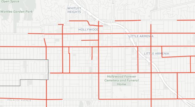 High Injury Network, bản đồ chỉ rõ các tuyến đường nguy hiểm nhất trong thành phố