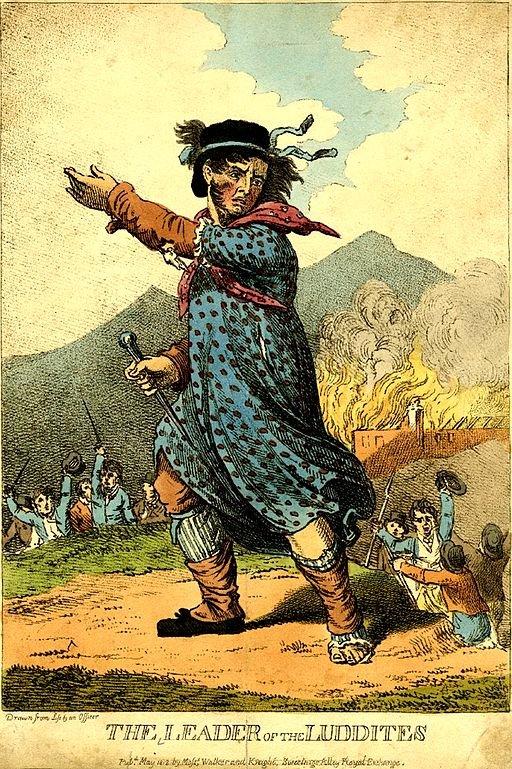 Nedd Ludd, lãnh đạo các phong trào đập phá máy móc công xưởng thế kỷ 19 tại Anh
