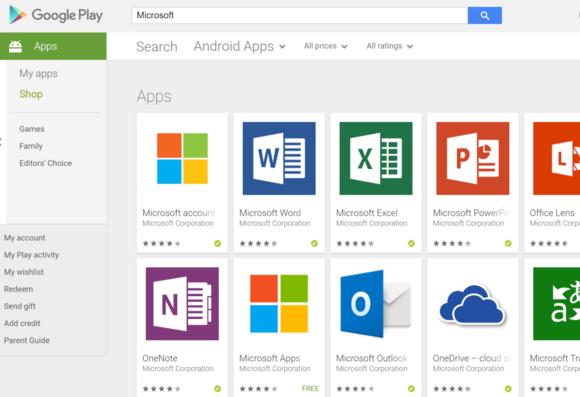 Số lượng app của Microsoft trong kho ứng dụng của Google và Apple là cực kỳ nhiều
