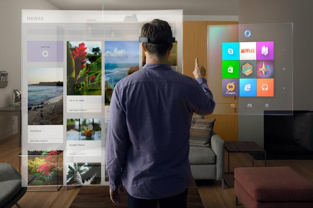 Microsoft có thể dễ dàng chia một góc của HoloLens cho Facebook.
