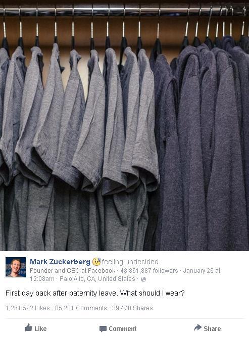 Đây là bức ảnh chụp tủ quần áo của CEO Mark Zuckerberg, bạn có thấy gì đặc biệt?