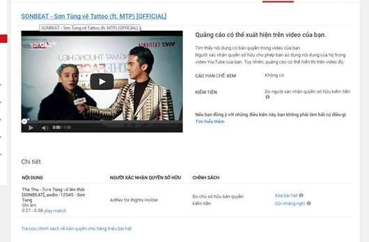 Tác giả Tha Thu bị YouTube cảnh báo bản quyền.