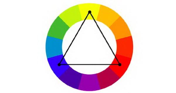 Ví dụ về phối hợp màu bổ túc bộ ba