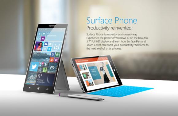 Concept Surface Phone của fan Microsoft