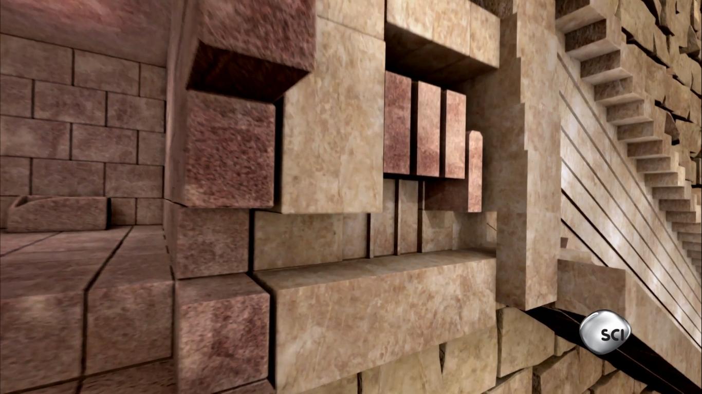 Những phiến đá lớn tại cửa của đường vào lăng mộ Pharaoh Khufu.