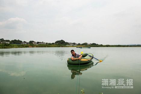 Hồ cá tại khu vực dự kiến xây