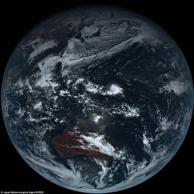 The Japan Meteorological Agencys Himawari-8 satellite has returned its first true colour image of Earth, seen here. It wascaptured using all 16 image bands from the satellite. Testing of Himawari-8s systems, including related ground facilities, are reportedly going well
