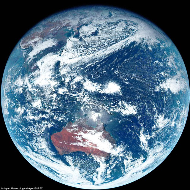 The image is said to be true colour as it shows what the planet would look like from space without a human eye. However, to us the planet appears slightly more blue and colourful. By brightening the picture, shown, more detail and features can be revealed