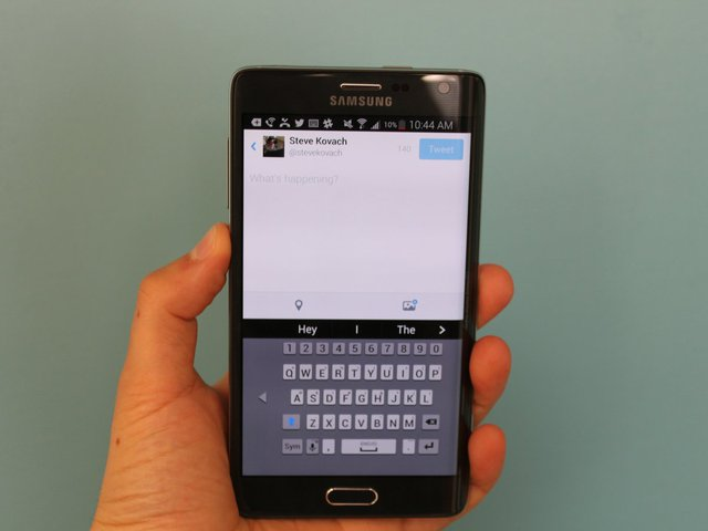 You can also shrink the keyboard for one-handed typing.
