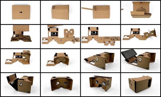 Cách xếp hình Google Cardboard