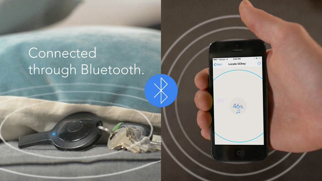 Chức năng tìm chìa khóa, cũng như điện thoại qua kết nối Bluetooth. Người dùng có thể biết mình đang xa hay gần GOkey thông qua ứng dụng trên điện thoại và thiết bị sẽ phát nhạc để có thể được tìm thấy.