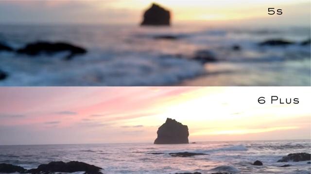 Bức ảnh so sánh khả năng chụp ảnh của Iphone 5s và Iphone 6 Plus