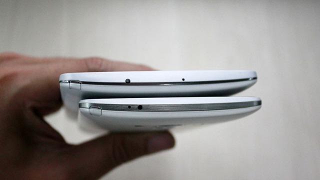 Cách bố trí các cổng kết nối LG G3 và LG G3 Screen không có sự khác biệt.