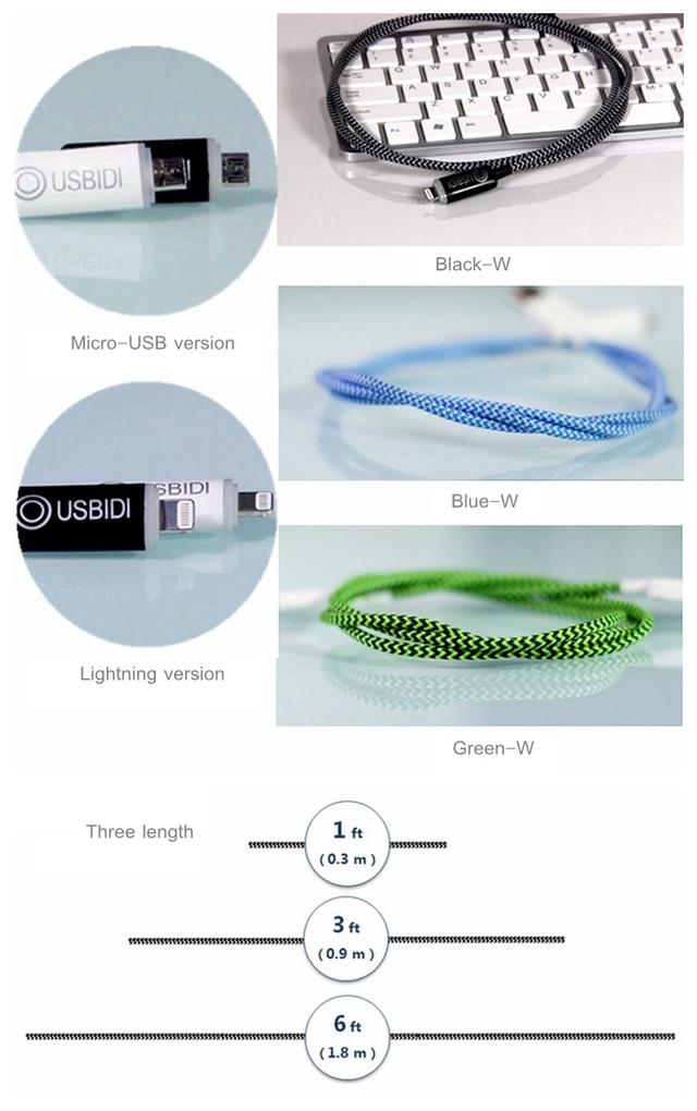 Người dùng có rất nhiều sự lựa chọn về màu sắc, độ dài, đầu kết nối.