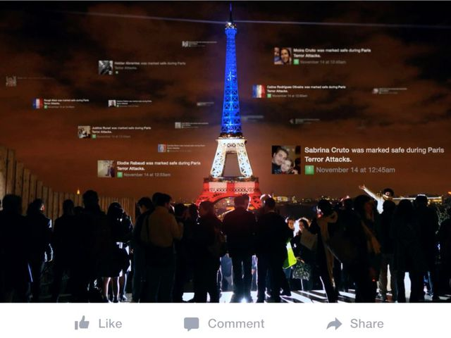 Vụ khủng bố tấn công Paris là một trong những sự kiện lớn được cộng đồng mạng quan tâm và chia sẻ trong năm 2015.