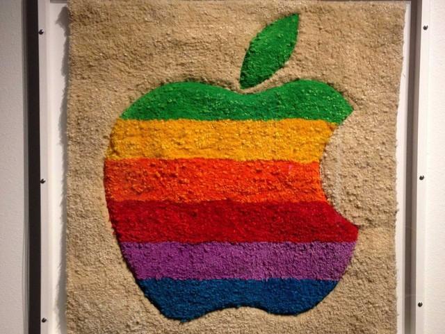 Apple rainbow logo wall hanging