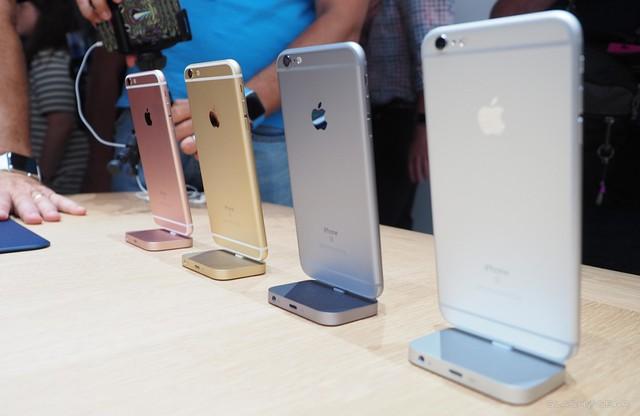 iPhone 6s với 4 phiên bản màu tùy chọn