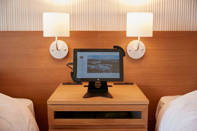 Tablets in the hotel rooms can be used to control lighting and other in-room amenities