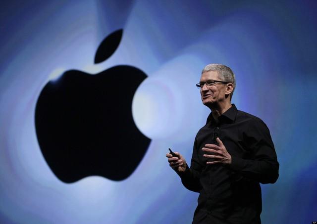 Hình ảnh CEO Tim Cook tại một sự kiện của Apple