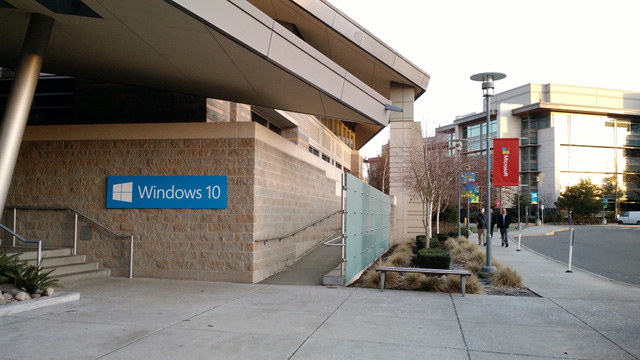 At a Windows 10 press event on the Microsoft campus in Redmond, Wash., on Jan. 21.