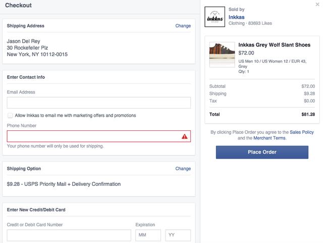Facebook Shopping Buy Button
